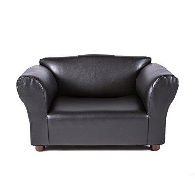 Mini Sofa Black Leatherette Pet Bed by Keet