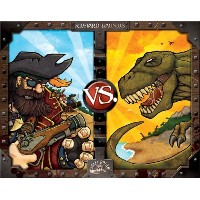 Ultra Pro Jolly Roger Games Pirates vs Dinosaurs, Small, Black/White