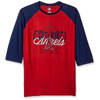 MLB Los Angeles AngelsメンズVictory Is Near Tee、XL、Athletic Red Pepper Heather / Athletic Navy