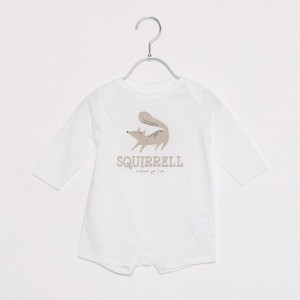 【SALE 55%OFF】コムサイズム COMME CA ISM 動物プリントの長袖ショートオール (リス)