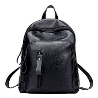 Zhhlinyuan 高品質の Fashion PU Leather Travel Bags Simple Style Backpack Students Bag Outdoor ファッションバッグ...