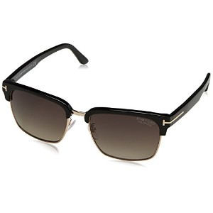 FT0367 01D Shiny Black, Rose Gold Metal / Grey Gradient Ochre POLARIZED Lenses