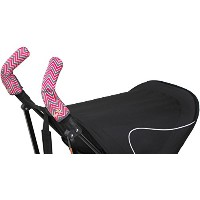 Choopie Stroller Grip Covers, Chevron Baby Pink, Double Bar by Choopie