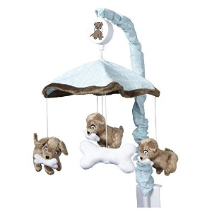 One Grace Place Puppy Pal Boy Mobile, Powder Blue, Chocolate Brown and White by One Grace Place