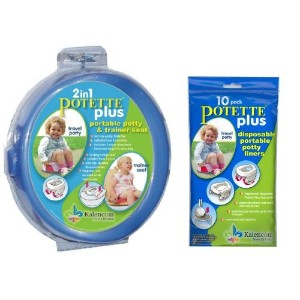 Potette Plus Travel Potty includes EXTRA Liners, Blue by Kalencom
