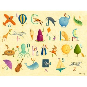 Oopsy Daisy Crackle Alphabet by Alison Jay Canvas Wall Art, 24 by 18-Inch by Oopsy Daisy