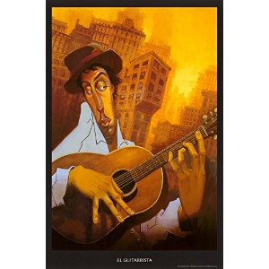 El Guitarristaアートプリントby Justin Bua 24 x 36 in