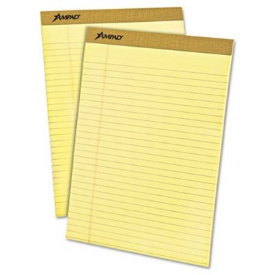 Evidence Perf Top, Legal Rule, Ltr, Canary, 50-Sheet Pads/Pack, Dozen (並行輸入品)
