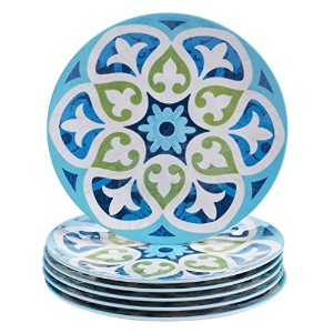 Certified International Corp Barcelona Salad/Dessert Plates, 9, Multicolored, Set of 6 by Certified...