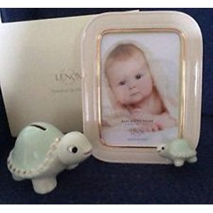 Lenox Baby Turtle 5x7 Frame and Bank Set by Lenox