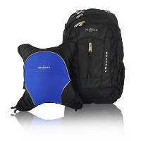 Obersee Bern Diaper Bag Backpack with Detachable Cooler, Black/Royal Blue by Obersee
