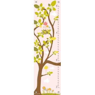 Oopsy Daisy in The Branches Finny and Zook Growth Charts, Pastel Pink, 12 x 42 by Oopsy Daisy