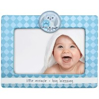 Adorable LITTLE MIRACLE BIG BLESSING Blue Baby 写真フレーム 4x6インチ用
