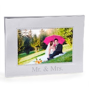 Cathy's Concepts Mr. and Mrs. Beaded Frame, Silver by Cathy's Concepts [並行輸入品]