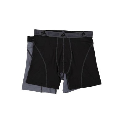 アディダス メンズ インナー・下着 ボクサーパンツ【Sport Performance ClimaLite 2-Pack Boxer Brief】Black/Thunder/Thunder/Black
