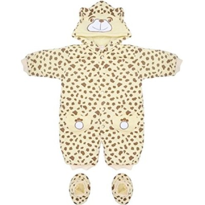 Brown & Cream Leopard Print Baby Snowsuit 3-6 Months by XIXI BABY