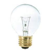 Satco S3888 120V Medium Base 40-Watt G18.5 Light Bulb, Clear by Satco