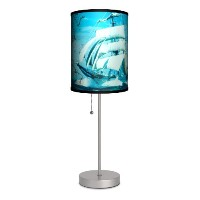 Transportation - Nautical Sport Silver Lamp by Lamp-In-A-Box
