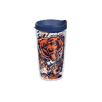 Tervis 1159530 NFL Chicago Bears Splatter Wrap Tumbler with Navy蓋、16オンス、クリア