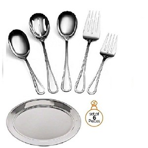 ChefGiant CompleteエレガントRegencyライン5-piece Flatware Servingセット、台所用具Servingセット、Buffet Banquet Serving...