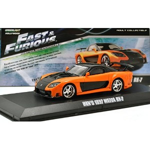 "GREENLIGHT 1:43SCALE ""THE FAST AND THE FURIOUS"" ""HAN'S 1997 MAZDA RX-7"" VeilSide widebody グリーンライト 1..."