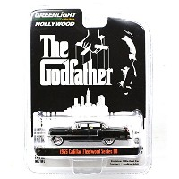 "GREENLIGHT 1:64SCALE HOLLYWOOD ""THE GODFATHER"" ""1955 CADILLAC FLEETWOOD SERIES 60""(BLACK) グリーンライト 1..."