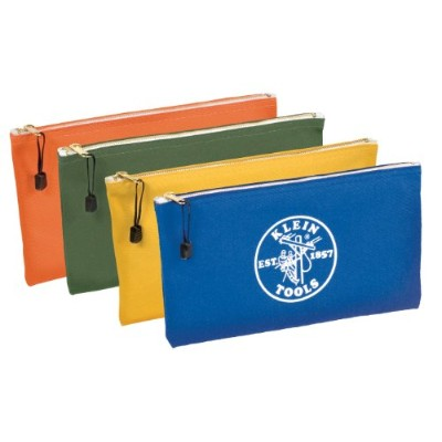Klein Tools 5140 Canvas Zipper Bags, 4-Pack by KLEIN TOOLS INC. [並行輸入品]