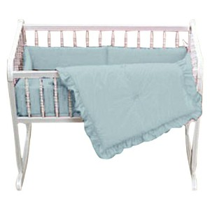 Baby Doll Bedding Solid Cradle Set, Blue by BabyDoll Bedding
