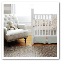 New Arrivals Picket Fence 2 Piece Crib Bedding Set, Beige by New Arrivals