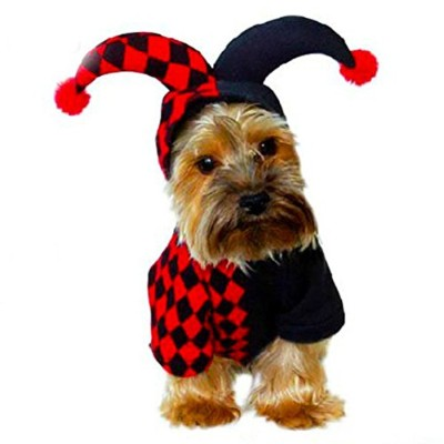 Zhhlinyuan 実用的な Pet Dog Teddy Festival Party Christmas Halloween Clothes Costume Outwear Coat Hoodie