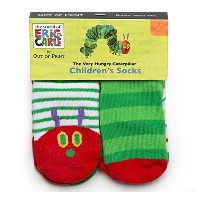 【Out of Print】 Eric Carle / The Very Hungry Caterpillar Toddler Socks (4-Pack)