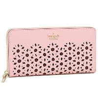 ケイトスペード 財布 レディース KATE SPADE PWRU5573 651 CAMERON STREET PERFORATED LACEY 長財布 PINK SUNSET [並行輸入品]