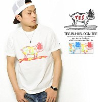 (エンドレスサマー)The Endless Summer TES BUHI BLOOM TEE WHITE/RED L