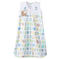 HALO SleepSack 100% Cotton Wearable Blanket, Blue Alphabet Pals, Medium by Halo