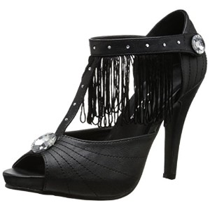 "Ellie Shoes E-400-Jazzy 4"" Heel Sandal. 10 Black PU"