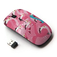 KOOLmouse [ ワイヤレスマウス 2.4Ghz無線光学式マウス ] [ Pink Flamingo Teal Different Message ]