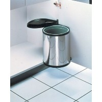 Hailo 3555-101 Compact-Box Stainless Steel Bin, 15L by Hailo