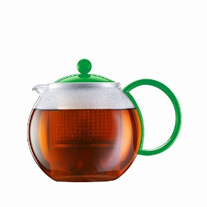 Bodum Assam - Modern Tea Pot - Glass and Plastic - Green - 1.0 l, 34 oz