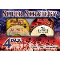Super Strategy 4 Pack Age of Empires Gold Civilization II Risk II and Majesty Fantasy Kingdom Sim ...