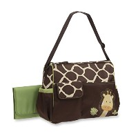 Baby Boom Giraffe Print Duffel Diaper Bag, Brown by Fantastic Job
