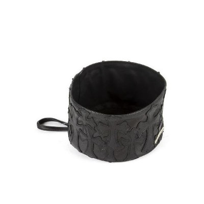 CHROME HEARTS MED PET DOG BOWL CEM CRSS PATCH クロムハーツ ミディアム ペット ドッグ ボウル セメタリークロスパッチ