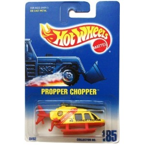 【送料無料】【PROPPER CHOPPER (Yellow/Red Search & Rescue Helicopter) * 1991 Hot Wheels #185 1:64...