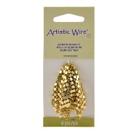 Artistic Wire Aluminum Fabric 37x37mm - Gold Color (4 Pieces)
