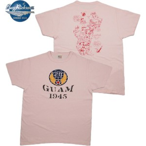 "BUZZ RICKSON'S (バズリクソンズ) S/S T-SHIRT ""20th AIR FORCE GUAM"" (半袖バックプリントTシャツ) PINK(ピンク)"