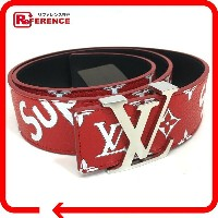 LOUIS VUITTON ルイ・ヴィトン MP015 17aw Supreme Louis Vuitton Initiales 40 MM Belt ルイヴィトン×シュプリーム モノグラム...
