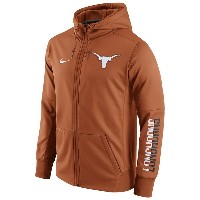 ナイキ メンズ パーカー&スウェット アウター Men's Nike College Sideline GridIron Full-Zip Hoodie Dark Orange