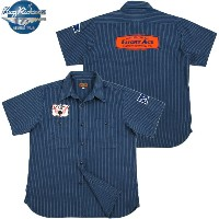 "BUZZ RICKSON'S (バズリクソンズ) HERRINGBONE CONTRACTOR S/S SHIRT STRIPE ""FLIGHT ACE"" (刺繍ワッペン付き、ストライプ..."