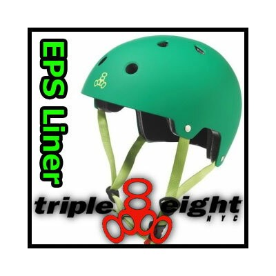 TRIPLE EIGHT BRAIN SAVER DUAL CERTIFIED EPS LINER カラー KELLY GREEN トリプルエイト ヘルメット スケートボード用715005