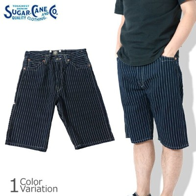 SUGAR CANE & Co.(シュガーケーン) FICTION ROMANCE 9oz.WABASH STRIPE ZIP FLY SHORTS SC51054A
