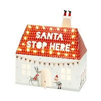 Talking Tables Party Illuminations Santa Stop Here House with 40 Led Lights, Multicolor by Talking...